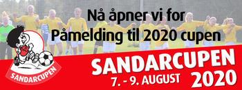Påmelding Sandarcupen 2020